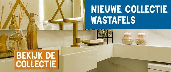 Banner voor nieuwe collectie wastafels