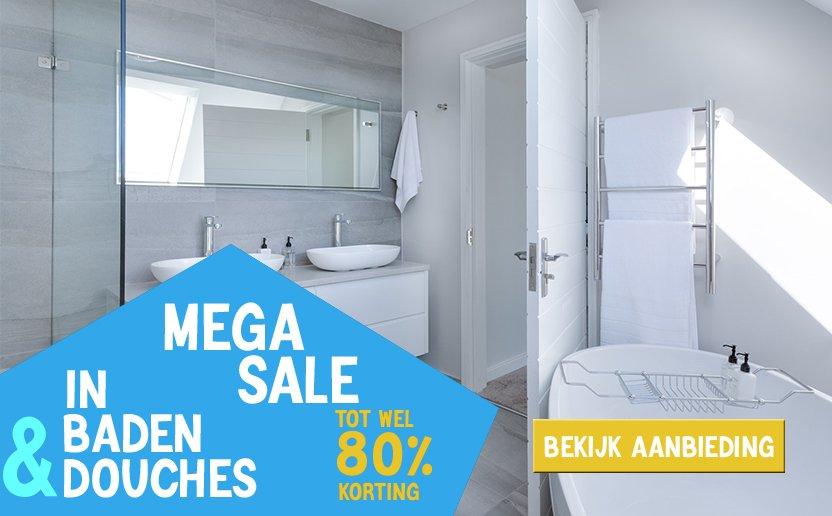 Mega sale in baden en douches nieuw